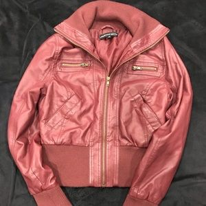 Ambiance Apparel Faux Leather Jacket